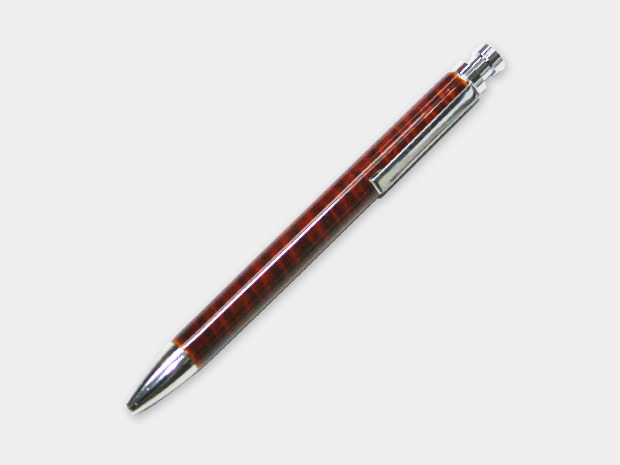 飛騨春慶塗 伝統工芸品 ボールペン 栃杢 1