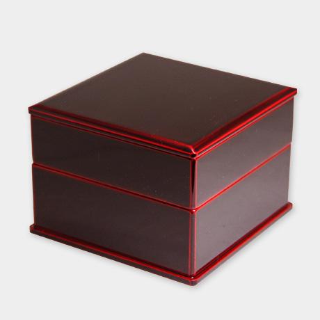 弁当箱 二段 紅(正方形)