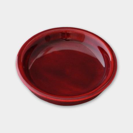 豆皿 大 紅