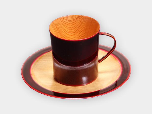 飛騨春慶塗 伝統工芸品 コーヒーカップ デミタス 紅 1