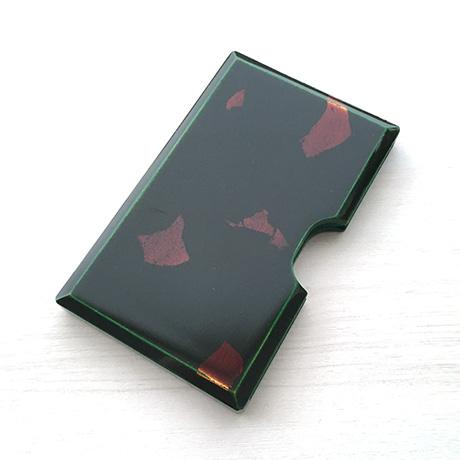 カードケース 緑 銀箔