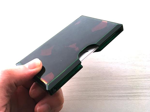 飛騨春慶塗 伝統工芸品 カード・名刺ケース 緑 銀箔 2