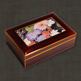 飛騨春慶塗 布張り小箱