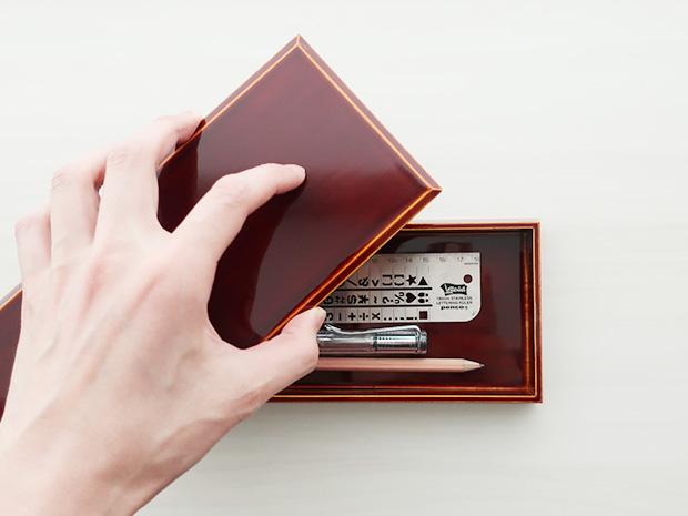 飛騨春慶塗 伝統工芸品 ペン入れ 2