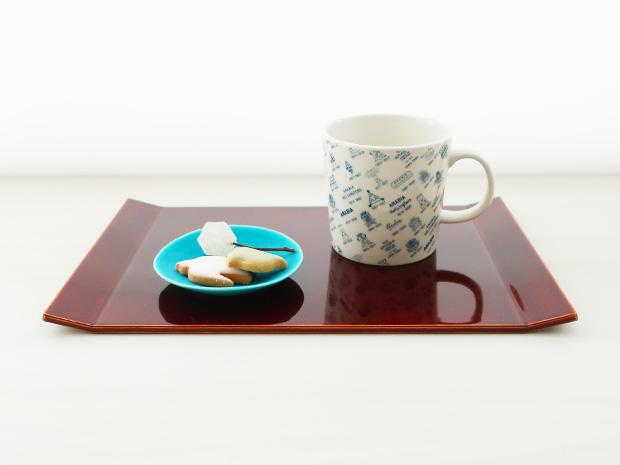 飛騨春慶塗 伝統工芸品 両折上皿 2