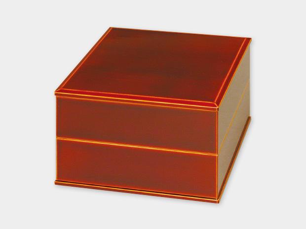 飛騨春慶塗 伝統工芸品 5.5寸二段重(重箱) 1