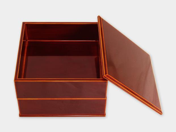 飛騨春慶塗 伝統工芸品 5.5寸二段重(重箱) 2