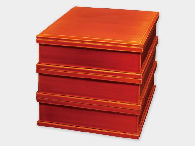飛騨春慶塗 伝統工芸品 7寸三段重(重箱) 1
