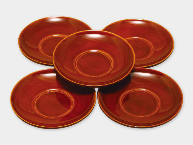 飛騨春慶塗 伝統工芸品 茶托 3.5寸 1