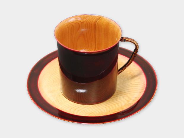 飛騨春慶塗 伝統工芸品 コーヒーカップ 紅 1