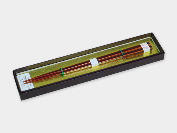 飛騨春慶塗 伝統工芸品 箸漆1入箱入 大 1