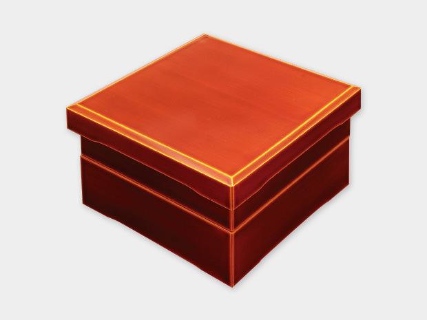 飛騨春慶塗 伝統工芸品 加伏二段重 6.5寸 1
