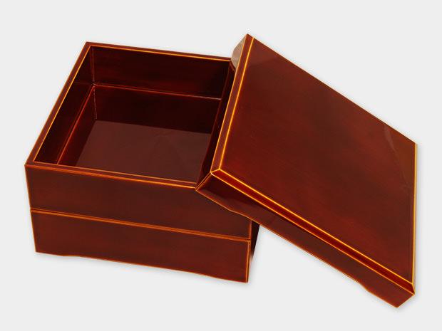 飛騨春慶塗 伝統工芸品 加伏二段重 6.5寸 2