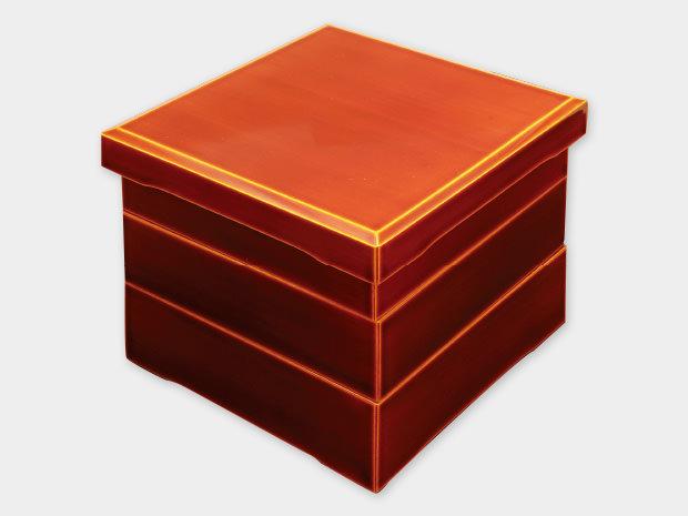 飛騨春慶塗 伝統工芸品 加伏三段重 6寸 1