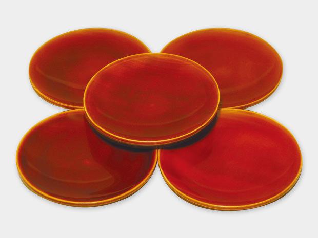 飛騨春慶塗 伝統工芸品 丸銘々皿 4.5寸 1