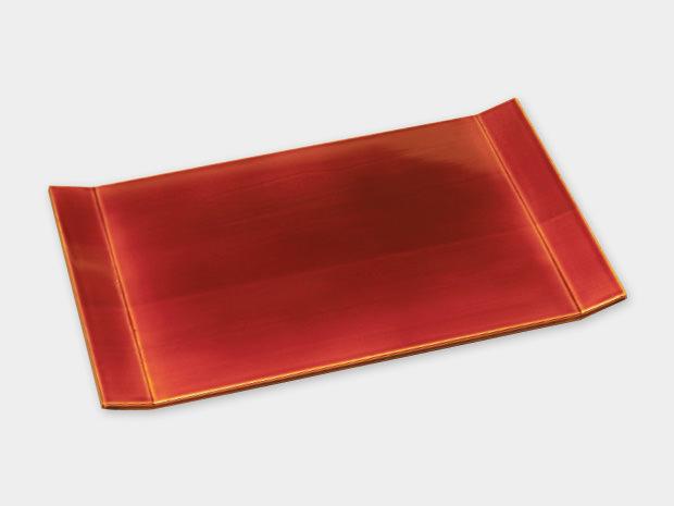 飛騨春慶塗 伝統工芸品 両折上皿 1