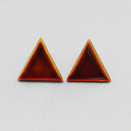 飛騨春慶のイヤリング 黄×紅/三角