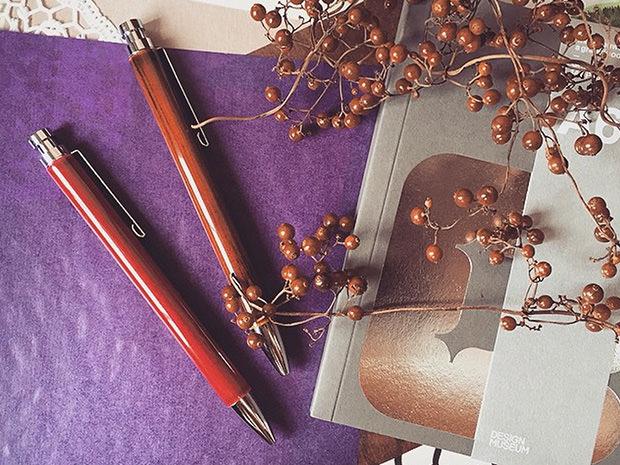 飛騨春慶塗 伝統工芸品 ボールペン 紅 2