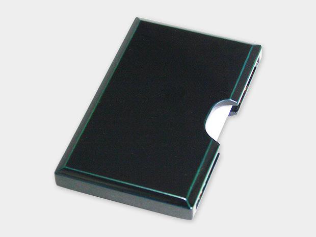 飛騨春慶塗 伝統工芸品 カード・名刺ケース 青 1