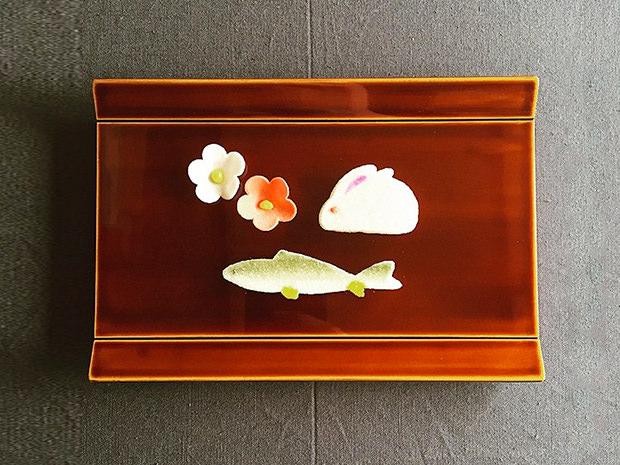 飛騨春慶塗 伝統工芸品 新慶弔盆(多目的トレイ) 6寸 2