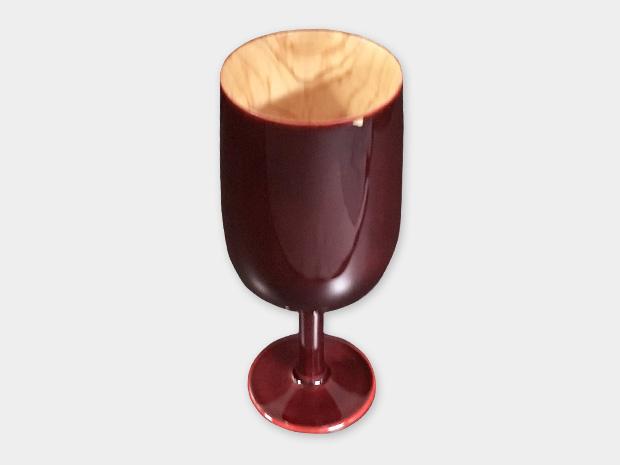 飛騨春慶塗 伝統工芸品 ワイングラス 紅 (2018) 1