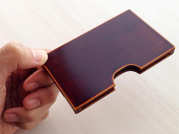 飛騨春慶塗 伝統工芸品 カード・名刺ケース スリム 2