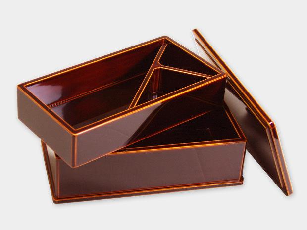 飛騨春慶塗 伝統工芸品 弁当箱 二段 2