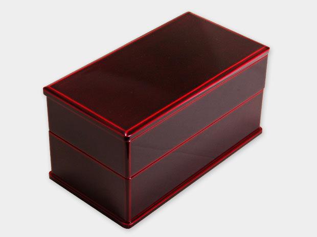 飛騨春慶塗 伝統工芸品 弁当箱 二段 紅 1