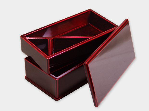 飛騨春慶塗 伝統工芸品 弁当箱 二段 紅 2