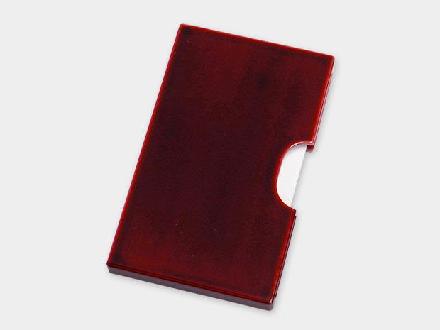 飛騨春慶塗 伝統工芸品 カード・名刺ケース スリム 紅 1