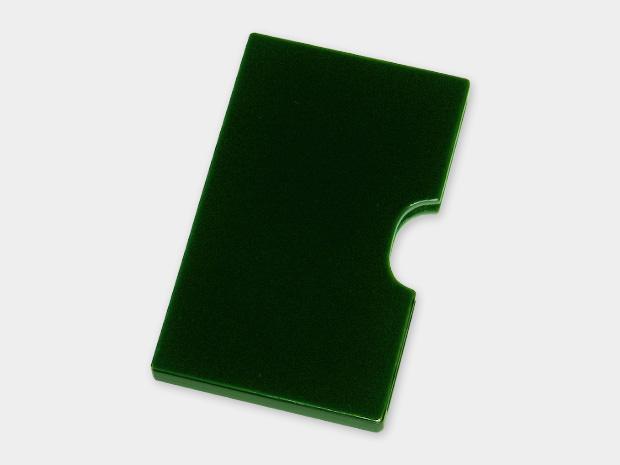 飛騨春慶塗 伝統工芸品 カード・名刺ケース スリム 緑 1
