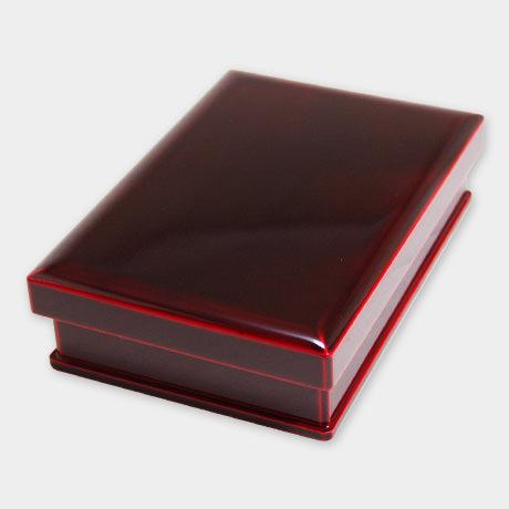 飛騨春慶塗 弁当箱 一段 紅