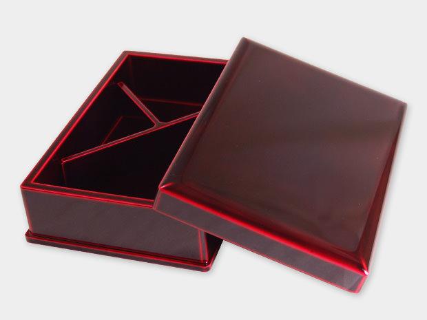 飛騨春慶塗 伝統工芸品 弁当箱 一段 紅 2