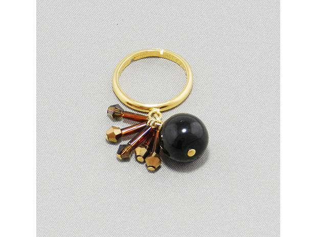飛騨春慶塗 伝統工芸品 飛騨春慶の指輪 青/アンバーカッパー 1