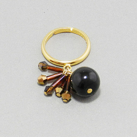 飛騨春慶の指輪 青/アンバーカッパー