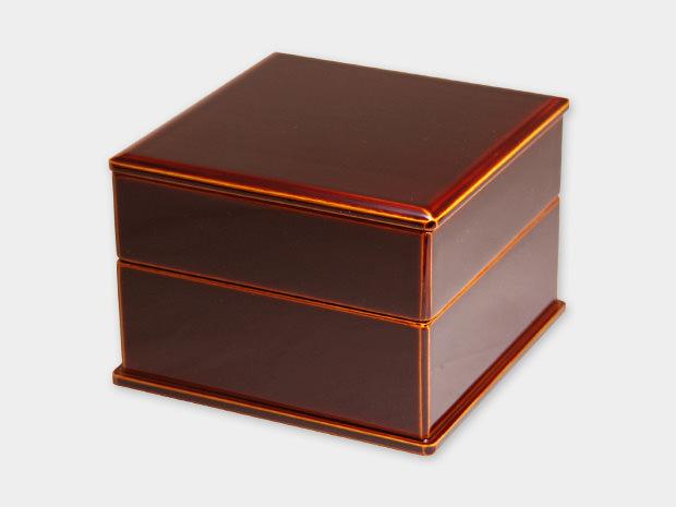 飛騨春慶塗 伝統工芸品 弁当箱 二段(正方形) 1