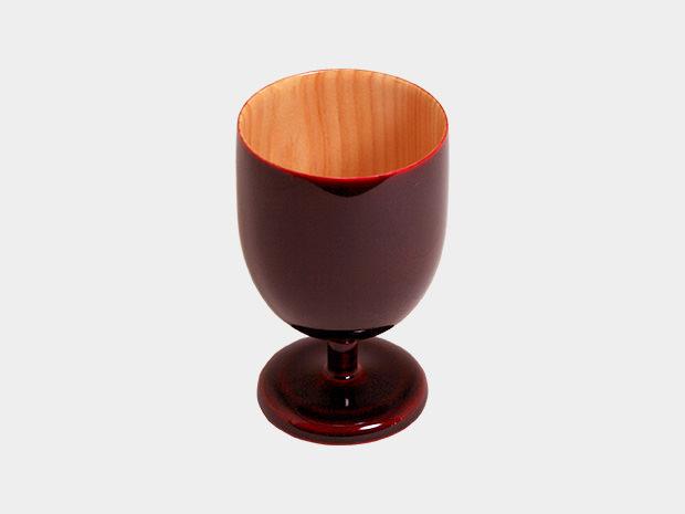 飛騨春慶塗 伝統工芸品 ワイングラス ミニ 紅 1