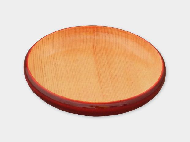 飛騨春慶塗 伝統工芸品 豆皿 小(縁型)紅ナチュラル 1
