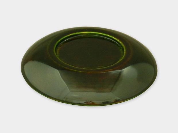 飛騨春慶塗 伝統工芸品 豆皿 小(椀型)緑 2