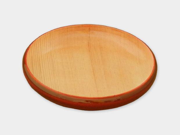 飛騨春慶塗 伝統工芸品 豆皿 小(縁型)ナチュラル 1