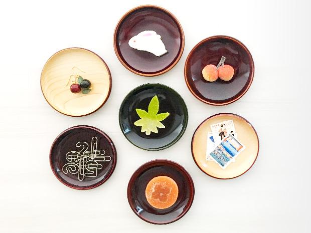 飛騨春慶塗 伝統工芸品 豆皿 小(縁型)紅ナチュラル 3