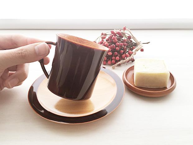 飛騨春慶塗 伝統工芸品 コーヒーカップ 紅 2
