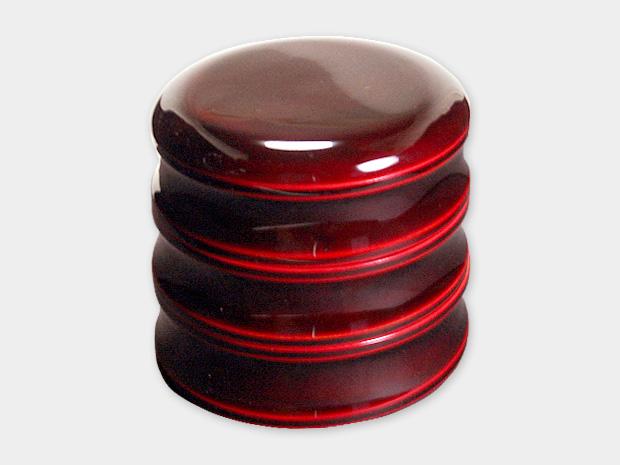 飛騨春慶塗 伝統工芸品 5寸丸三段重 紅(重箱) 1