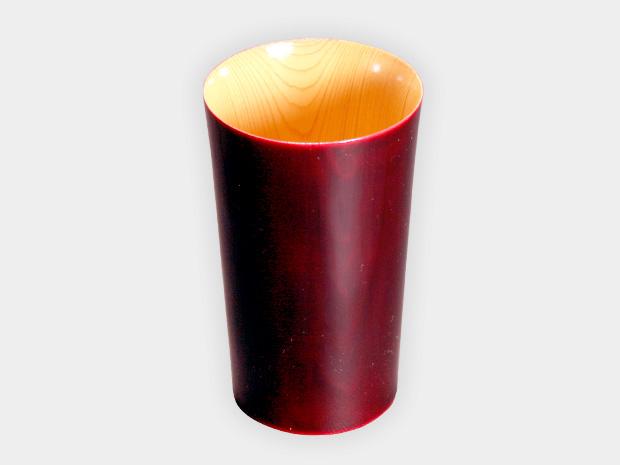飛騨春慶塗 伝統工芸品 タンブラー A 紅 1
