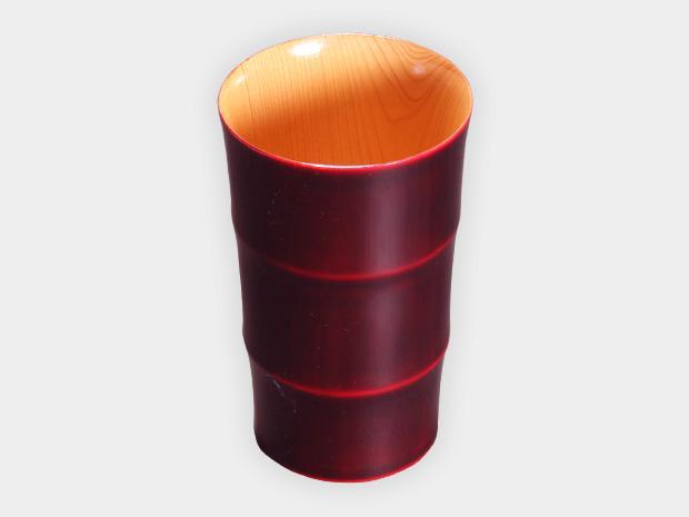 飛騨春慶塗 伝統工芸品 タンブラー C 紅 1