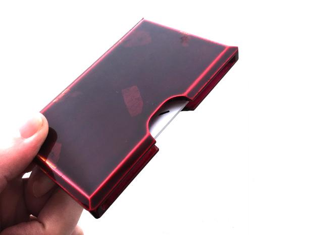 飛騨春慶塗 伝統工芸品 カード・名刺ケース 紅 銀箔 2