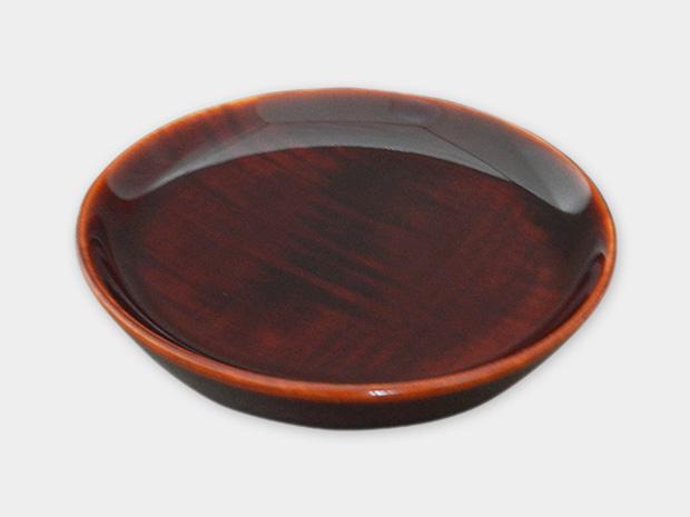 飛騨春慶塗 伝統工芸品 豆皿 小(深型)栃杢 1