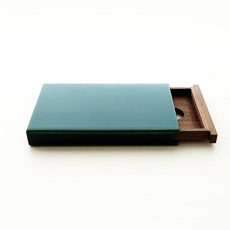 カード・名刺ケース スライド式 大 緑