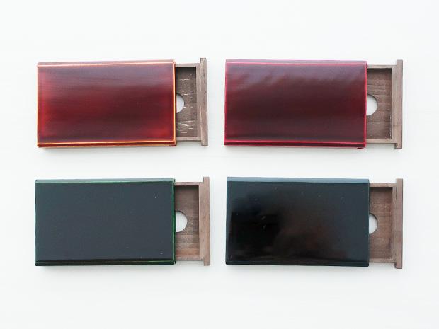 飛騨春慶塗 伝統工芸品 カード・名刺ケース スライド式マグネット付 大 紅 2