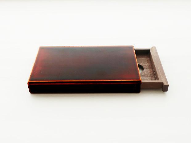 飛騨春慶塗 伝統工芸品 カード・名刺ケース スライド式 大 1